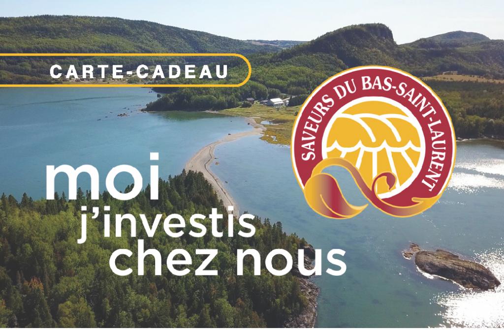 carte cadeau Saveurs du Bas-Saint-Laurent
